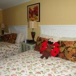 My son was happy to see that the staff made his stuffed animals comfy while we were at the beach