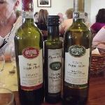 The lovely wines and olive oil they make, serve and sale.