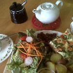 Salmon, Pea and Mint Tart (G/F)