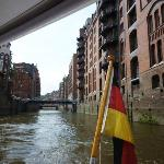 Cruising through Hamburg's Speicherstadt
