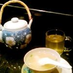 Miso soup and green tea