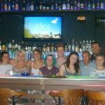 Photo of us with a few of the bar staff!