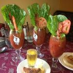 Our Bloody Marys which all came with BLT's and a Beer for only $7.50. And they were good!!