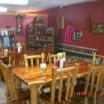 Wayne built the restaurant and local artisans furnished it