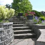 Welcoming rustic front steps