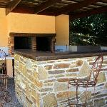 Outdoor kitchen for guests