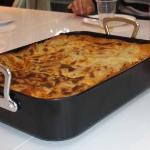 Take away vegetarian lasagne