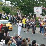 the olympic torch passing Surfside stop.....