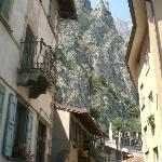 A typical village street, with the mountain backdrop.  So much nicer then any photograph can por