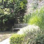 Some seating in the garden