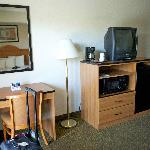 Old television and cheap furniture