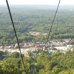 waterpark from ropeway