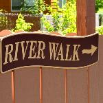 River walk sign