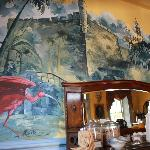 Wonderful Mural in Dining Area