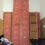 doors to the vaulted bathroom