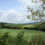 A view from the rooms of the Tuscan countryside
