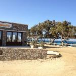 manolis next door- excellent food on the beach