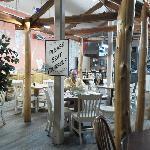 Cute gazebo inside the cafe.