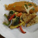 Sweet Potato covered catfish with great side dishes