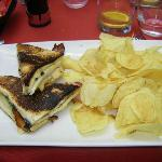 Club Sandwich and crisps