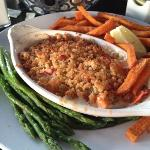 The Lazy Man Lobster Pie - great claw meat in a wonderful hot casserole - tonight served with as