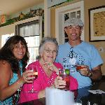 Me, mom and my brother up at the bar