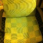 Faded/discolored chair