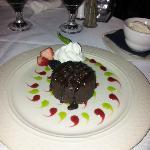 chocolate lava cake at Sanibel Steak House