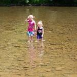 our girls were playing in the creek EVERYDAY