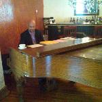Eric Hall, the Piano player during Sunday Brunch