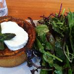 Aspargus with Goat Cheese Quiche