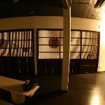京都から取り寄せた板戸のあるロビーは町家をイメージしました。Lobby lounge(The sliding doors from Kyoto)
