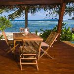 Private deck with plunge pool & day bed
