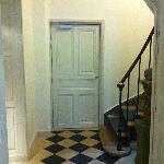 accès escalier.