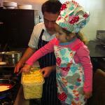 kids making their own food