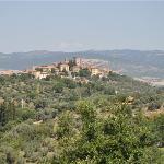 Montemerano,welch ein Panorama.