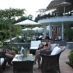 Terrasse im Aussenbereich im Wellnesshotel Golf Panorama, Thurgau, Bodensee, Lipperswil Schweiz