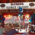 Bar inside Sleder's