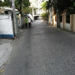road toward hotel