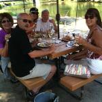 Lunch along the Applegate River at Red Lilly Winery