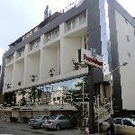 hotellet sett från gatan