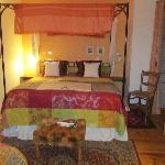 Eén van de romantische slaapkamers