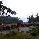 View of the rest of the cabins and Whaleshead Beach from the large deck