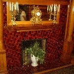 The Fireplace and its tiles are original.