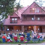 The Frank House during a summer concert in 2012
