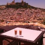 Home made gazpacho and views of La Mota