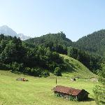 A picture of the valley behind the hotel