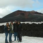 Our family coming down from the crater