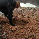 Johann buries ham and cheese sandwiches on trip to Magni crater