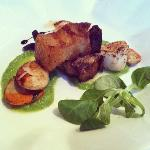 Scallops and Pork Belly starter